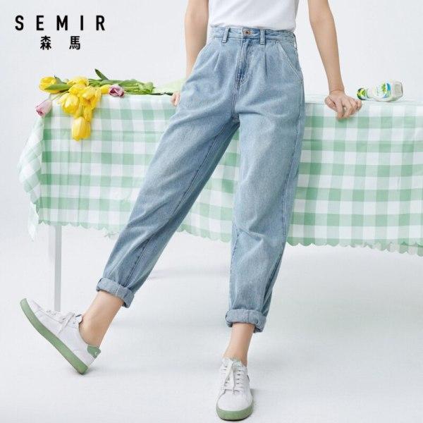SEMIR Girls cotton denims summer straight jeans