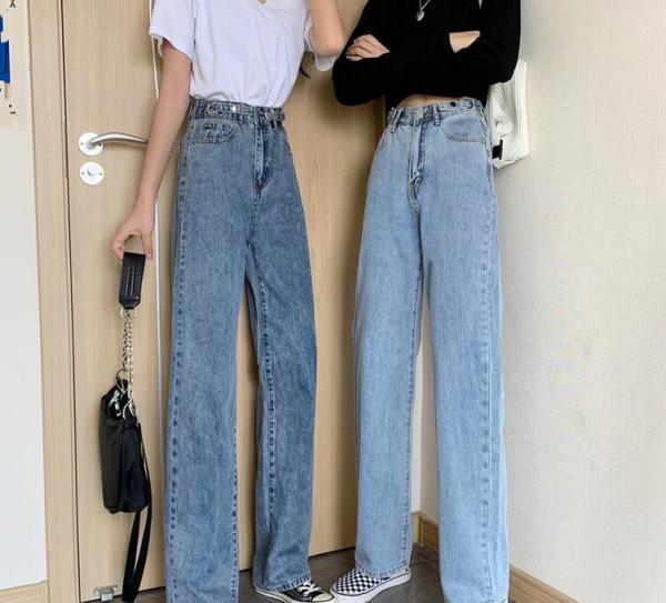 Summer season new straight unfastened trousers skinny
