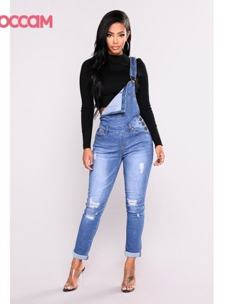 Ladies Denim Overalls Denims Bib Feminine Plus
