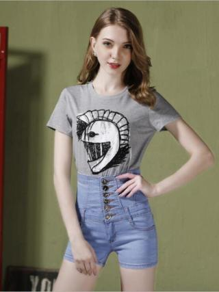 New scorching sale girls's spring summer season informal straight denim