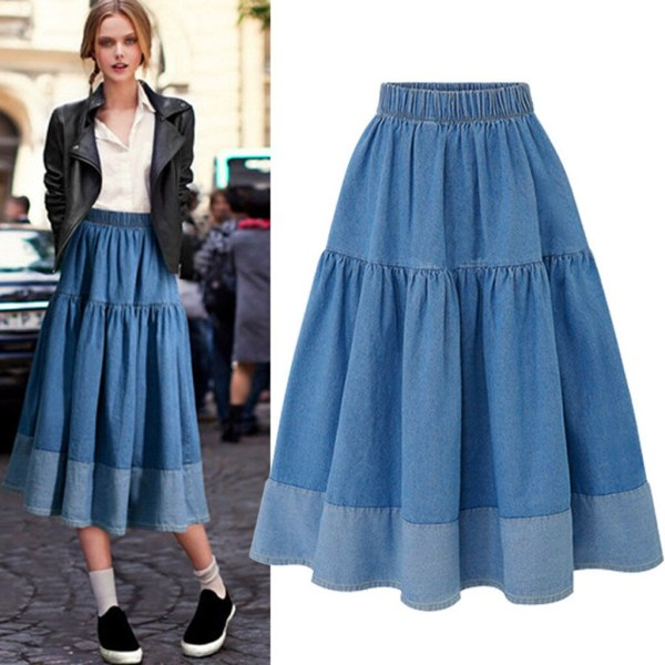 Womail Style Girls Lengthy Skirts Elastic Waist
