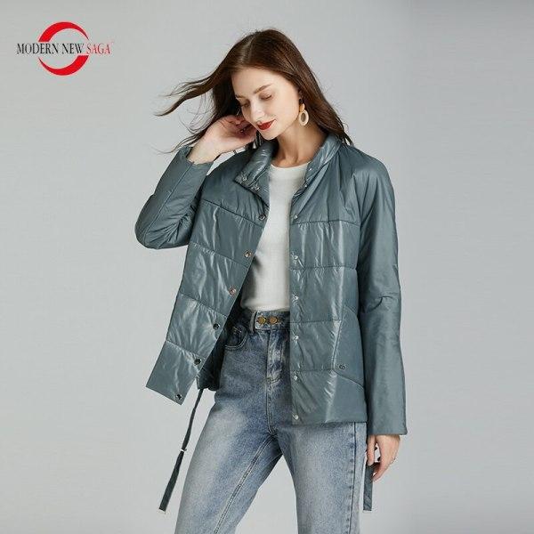 SAGA Spring Girls Jacket Skinny Cotton Padded Jacket Autumn