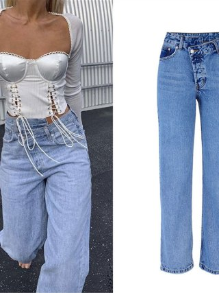 Excessive Waist Denims Girl Informal Free Girls Denim Pants