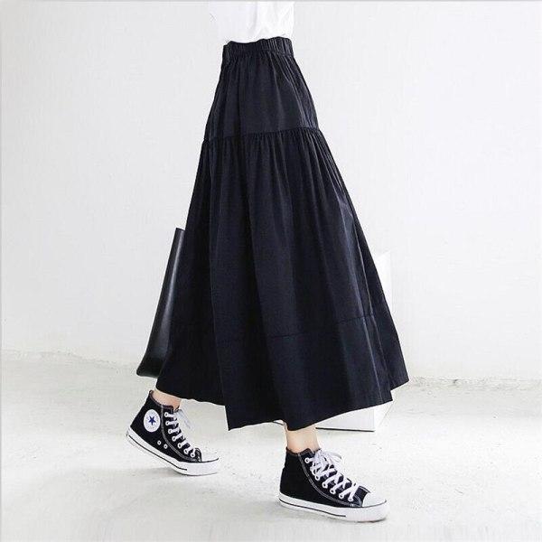 Summer season Autumn Ladies Lengthy Skirts Stable Elegant