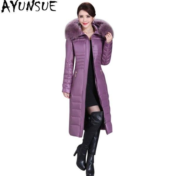 Winter Duck Down Jacket Ladies Lengthy Slim Coat