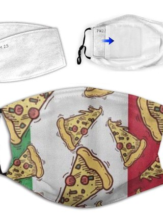 Christmas Face Masks Grownup Washable 3D Pizza