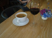 Coffee and wine great combo