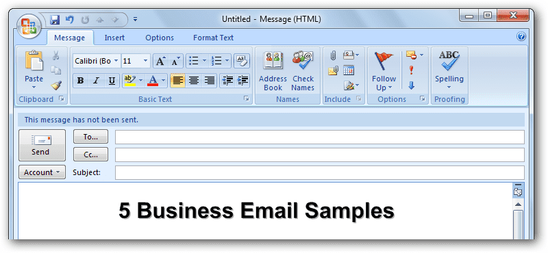 Five (5) Effective Business Email Samples You Can Emulate - Woculus
