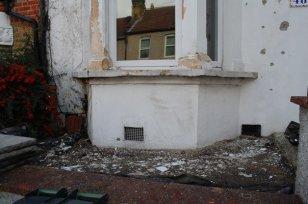 Rotting window ledge