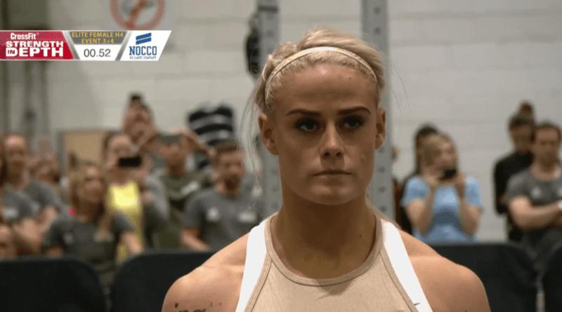 Sara Sigmundsdottir at the 2019 CrossFit Strength in Depth Sanctional