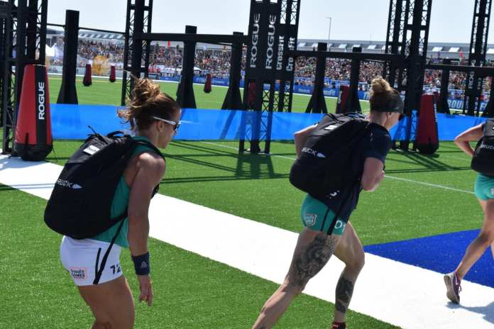 013 - Samantha Briggs of the United Kingdom completes the Ruck Run event at the 2019 CrossFit Games