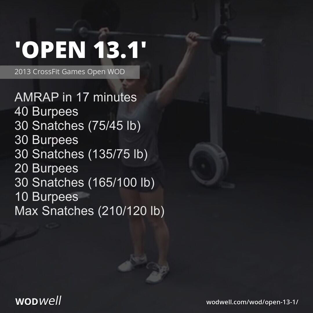Quot Open 13 1 Quot Wod