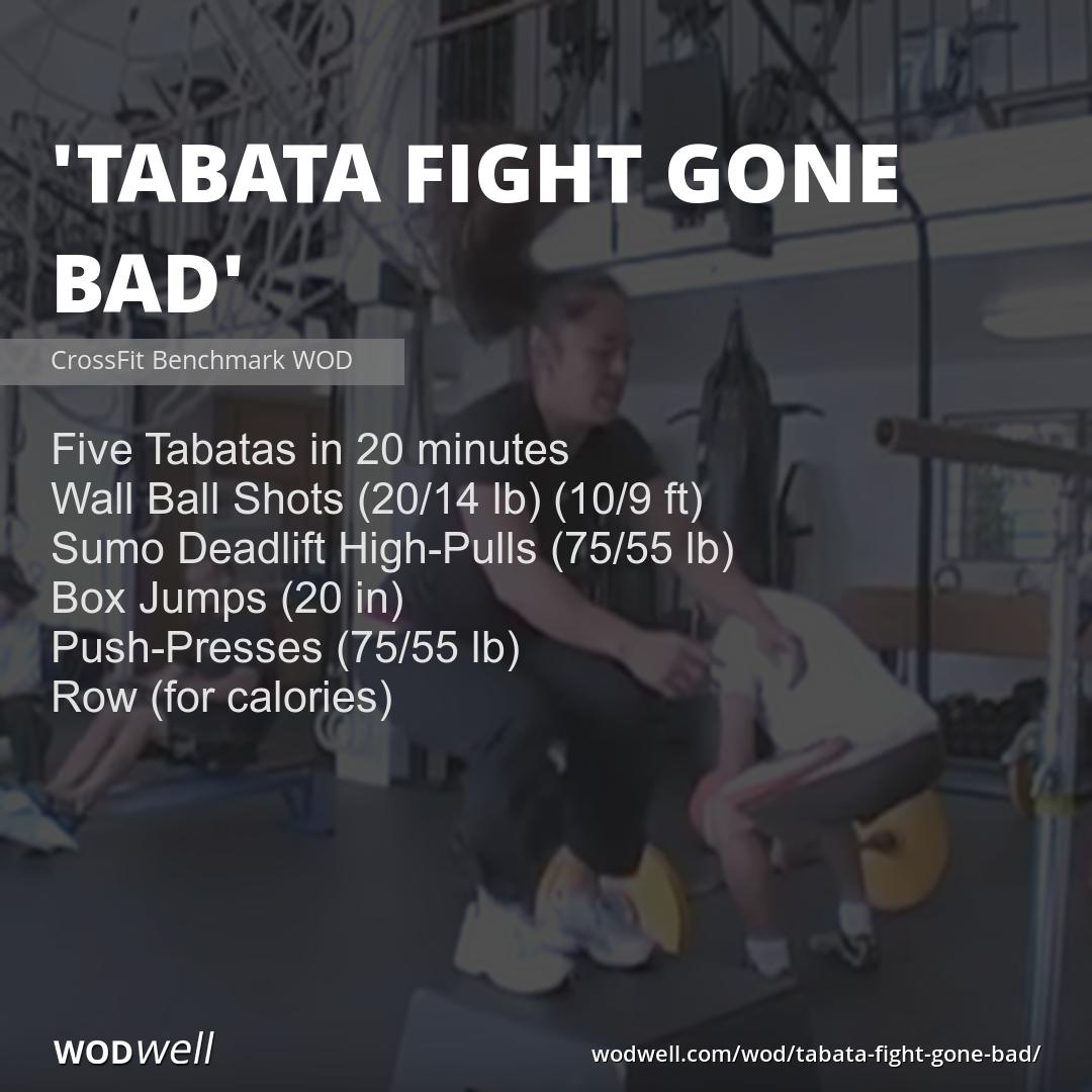 Quot Tabata Fight Gone Bad Quot Wod