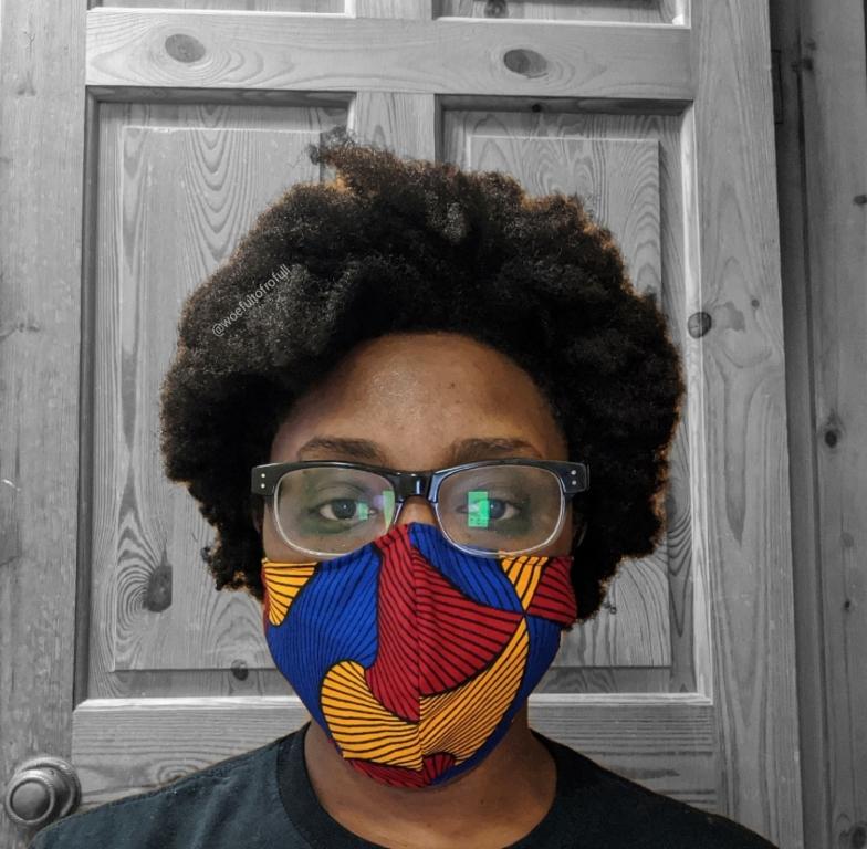 woeful to frofull ankara face mask coronavirus