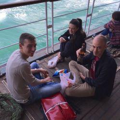 Spanische Gang am Boot