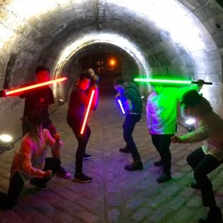 Manananggooglers in a tunnel, Intramuros