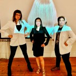 with curator Rea Lynn de Guzman (photo: Rea)