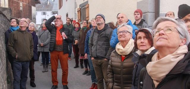 Dorfführung und Informationsveranstaltung vom 25. Januar 2020: Grosses Interesse der Almenser Dorfbevölkerung.