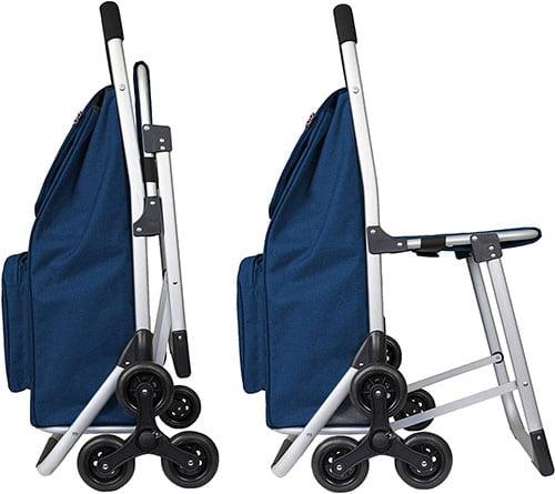 nákupný vozík so sedadlom
