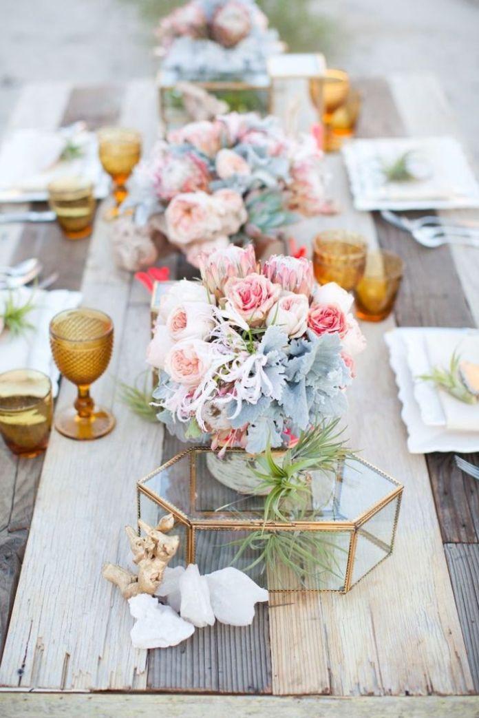 Funny Pastel Wedding Table Centerpiece Ideas