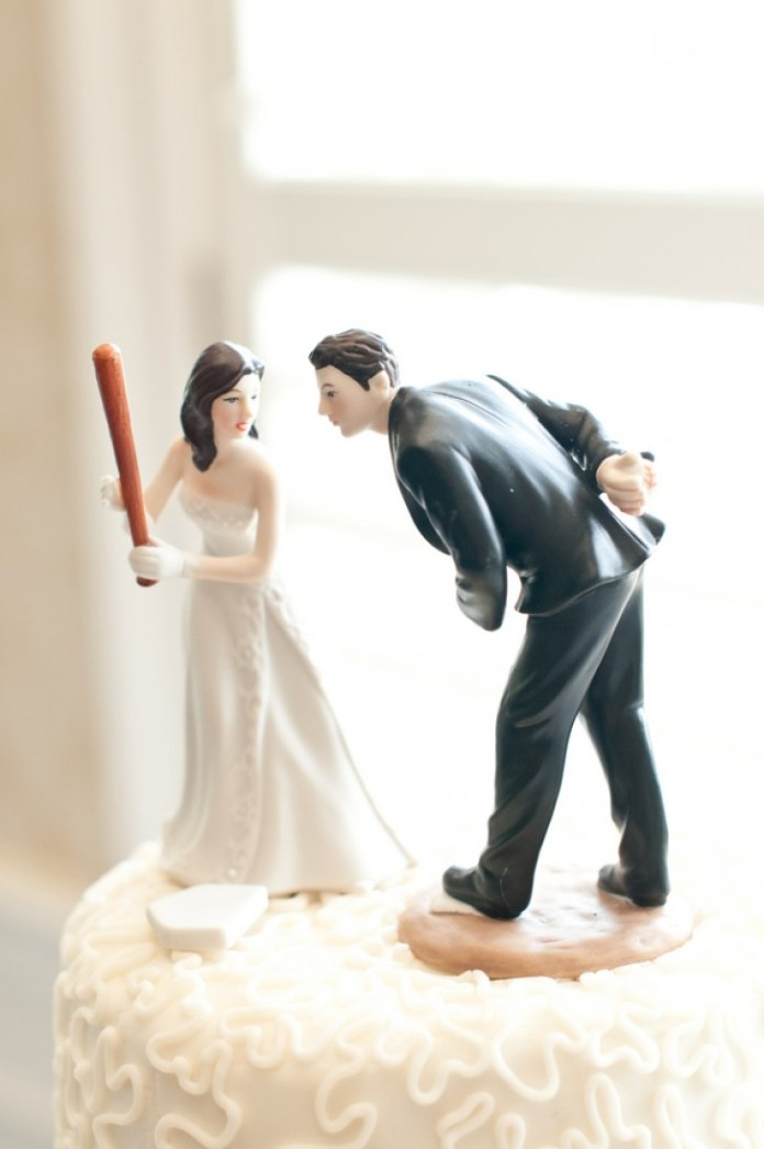 Funny Wedding Cake Topper to Presents