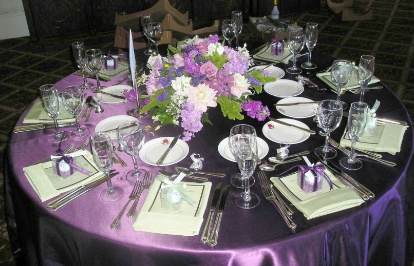 Purple Silver And White Wedding Table Decorations Why Santa Claus