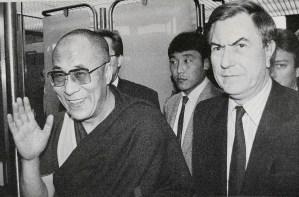 Dalai Lama und Jürgen Wohlrabe