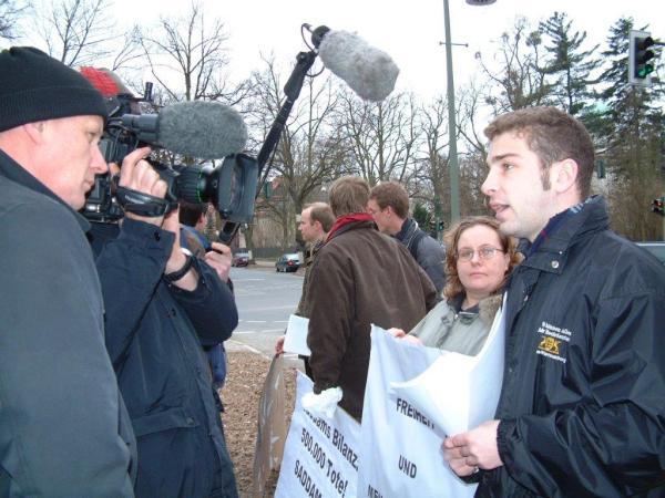 Bei einer Demonstration 2003