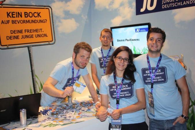 Beim Stand der JU auf der gamescom 2013