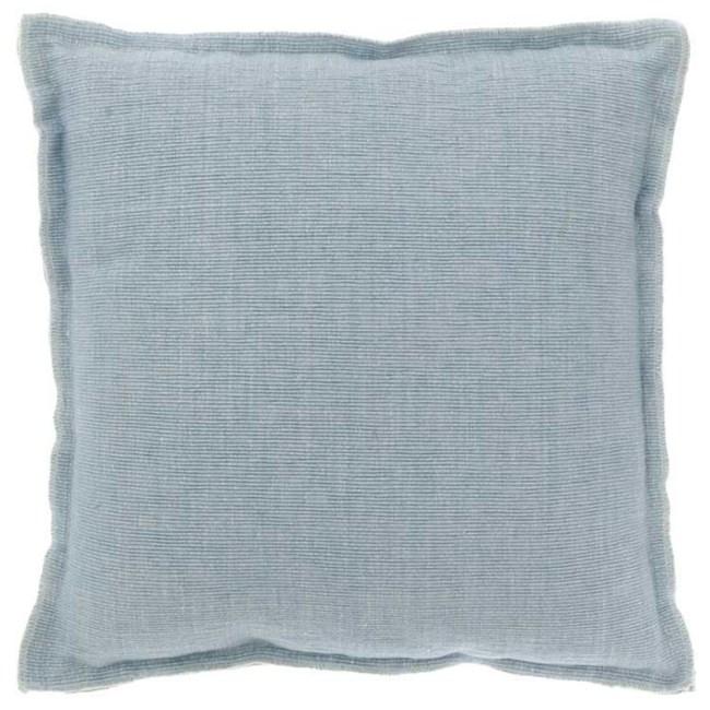 Kissen Rib blau 45 x 45