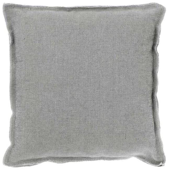 Kissen Rib Dunkel Grau 45 x 45
