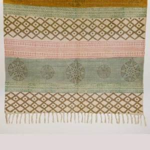 Läufer Teppich Baumwolle Handgemacht mit Quasten