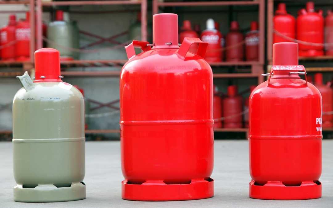 Sichere Lagerung von Flüssiggas-Flaschen