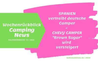 Camping News Wochenrückblick – KW13/2020