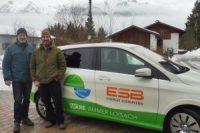 E-Auto Test in Wallgau