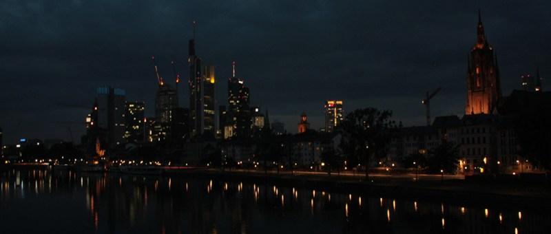 Foto Kulisse Frankfurt nachts