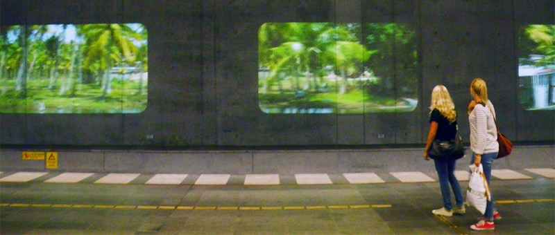 Foto Installation am Centralbahnhof Stockholm