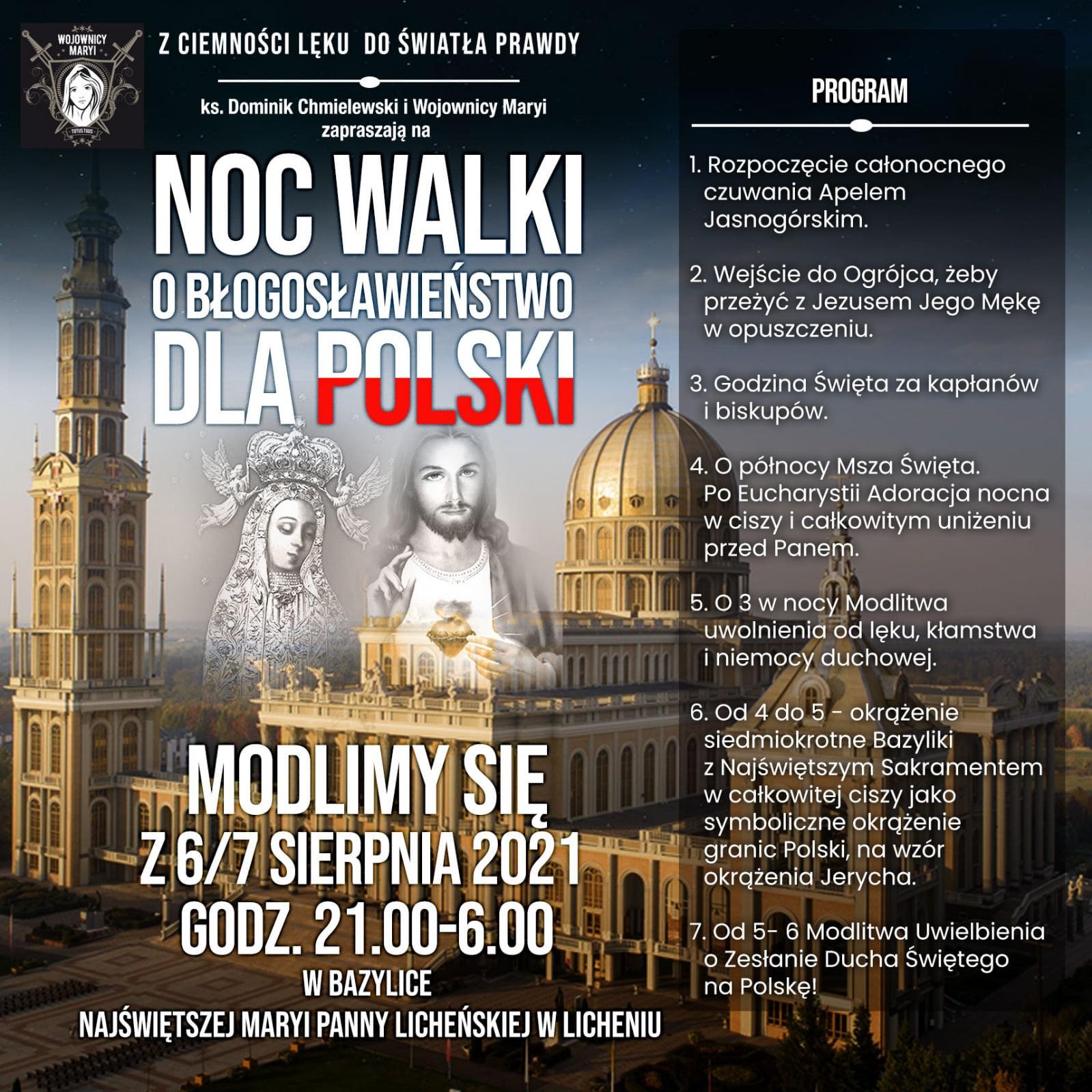 Read more about the article NOC WALKI O BŁOGOSŁAWIEŃSTWO DLA POLSKI