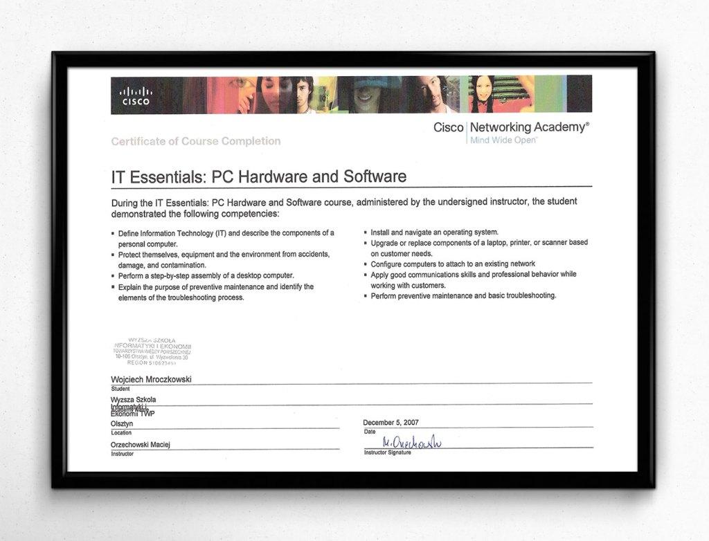 CISCO IT Essentials: PC Hardware and Software - 05.12.2007