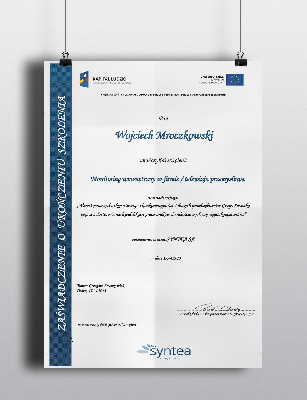 Monitoring wewnętrzny w firmie / telewizja przemysłowa - 15.04.2013 str. 1