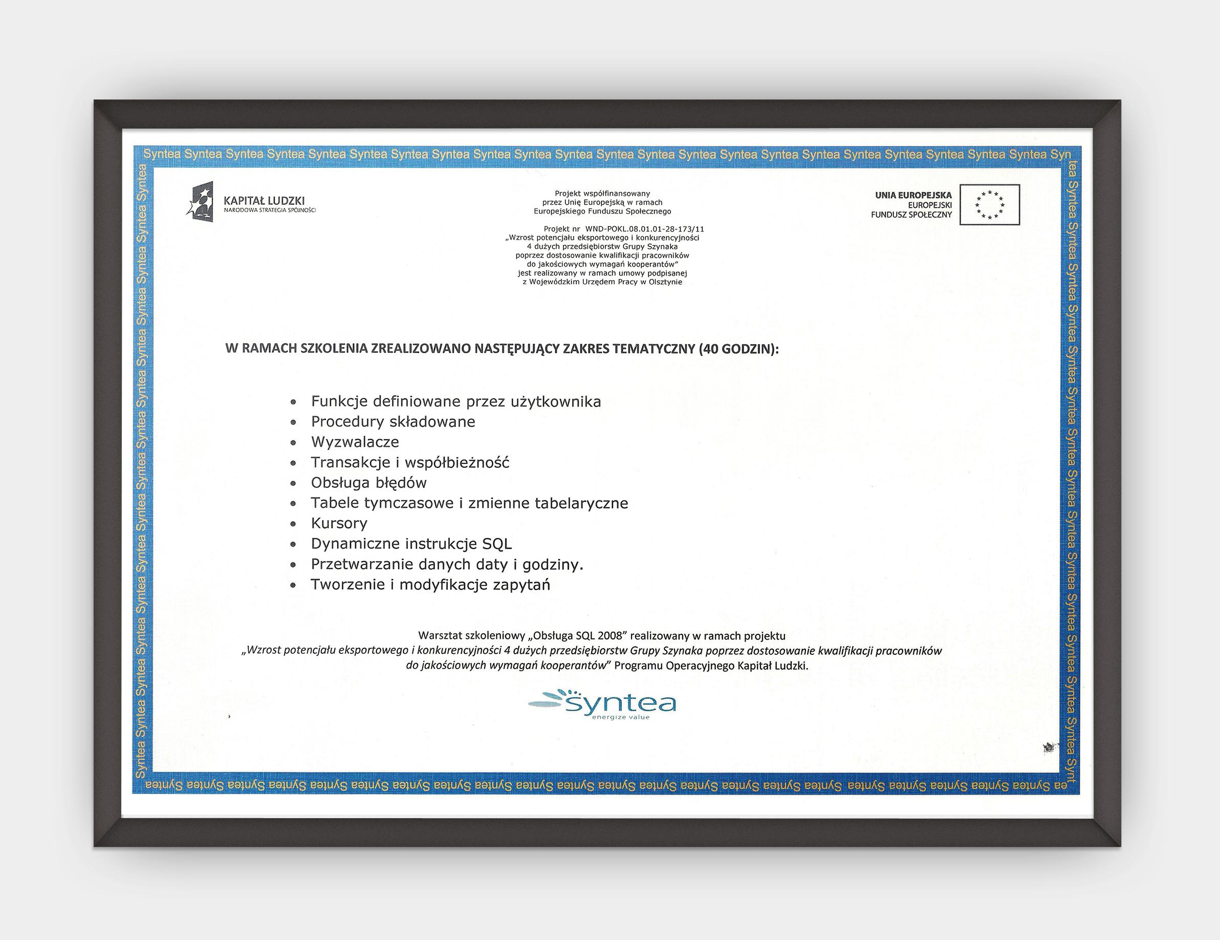 Obsługa SQL 2008 - 08.08.2012 str. 2