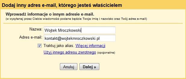 Importowanie kont do Gmail 3