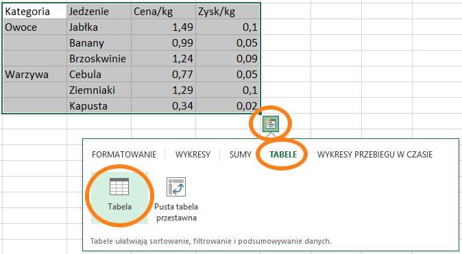 filtrowanie wykresów w Excelu 8