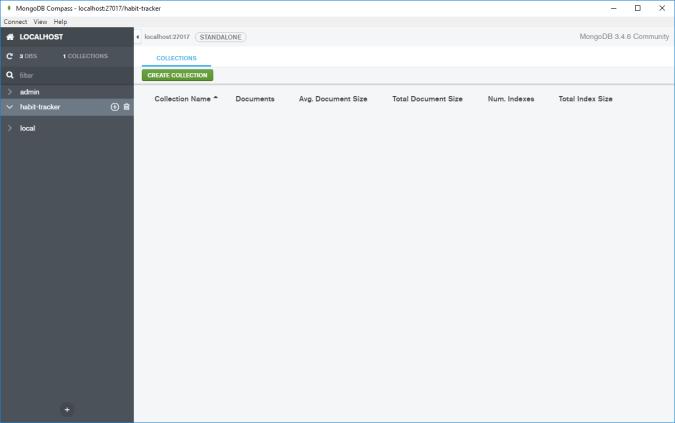 MongoDB Compass — okno programu