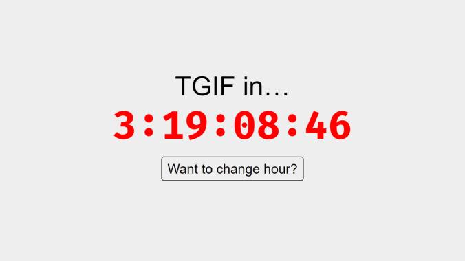 TGIF — ile pozostało do weekendu?