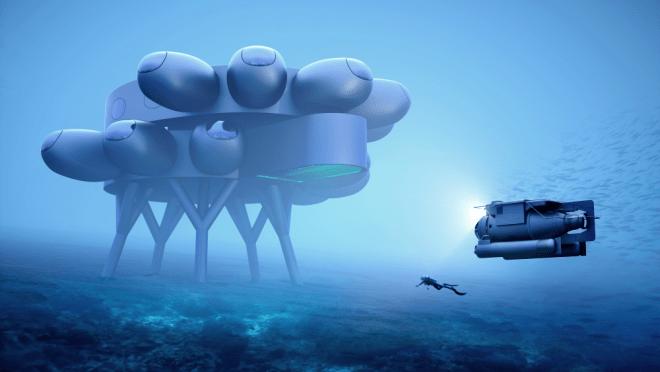 Así será Proteus, el laboratorio submarino soñado por el nieto de Cousteau