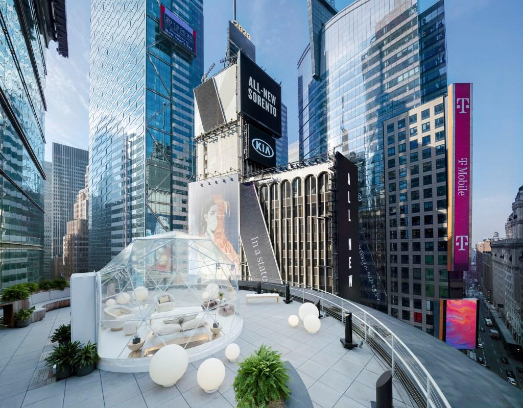Times Square ofrece vistas panorámicas para recibir el Año Nuevo