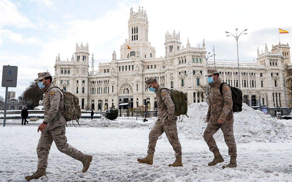 Imágenes impactantes de la nevada nunca antes vista en España