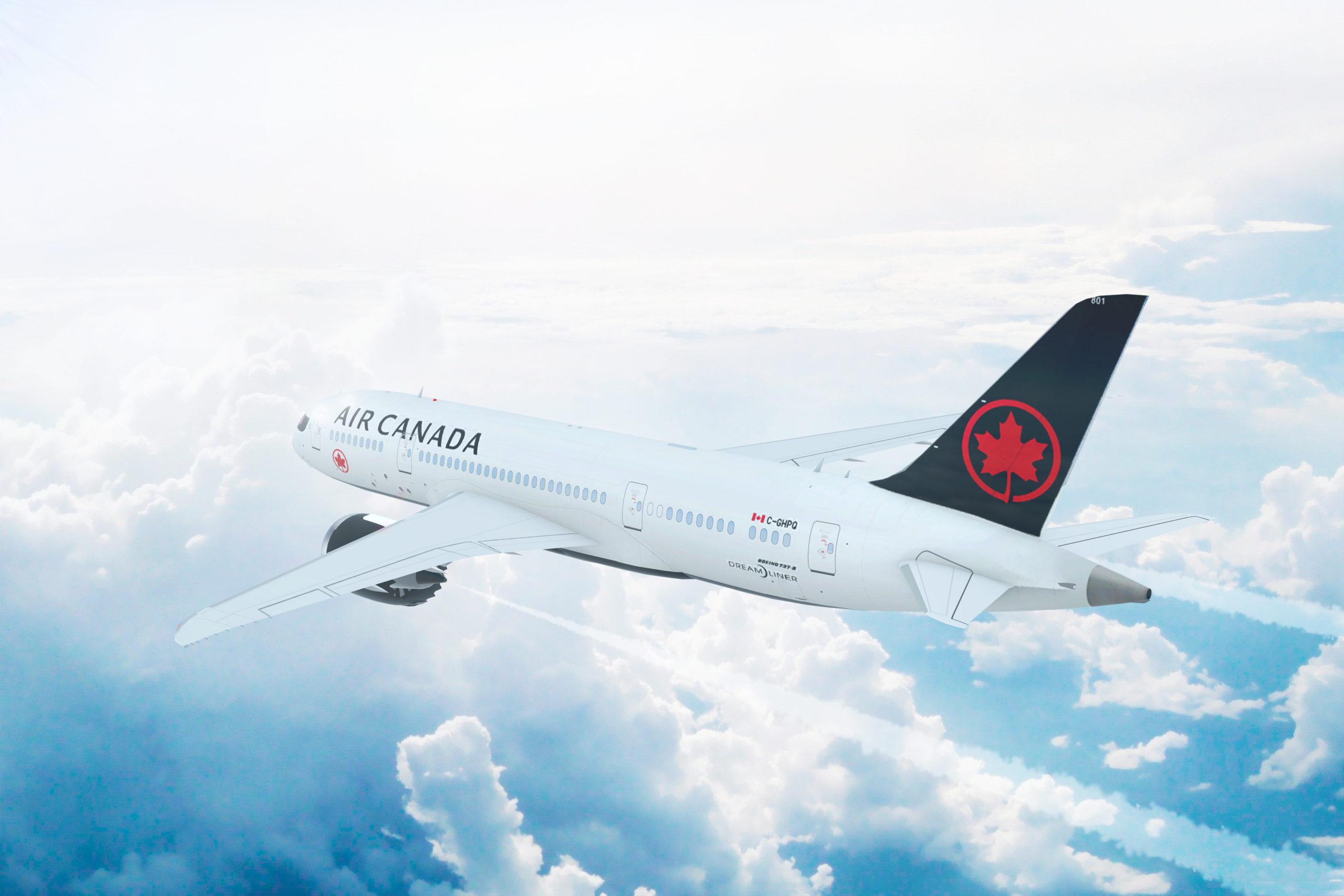 Air Canada busca eliminar al 100% sus emisiones de gases invernadero