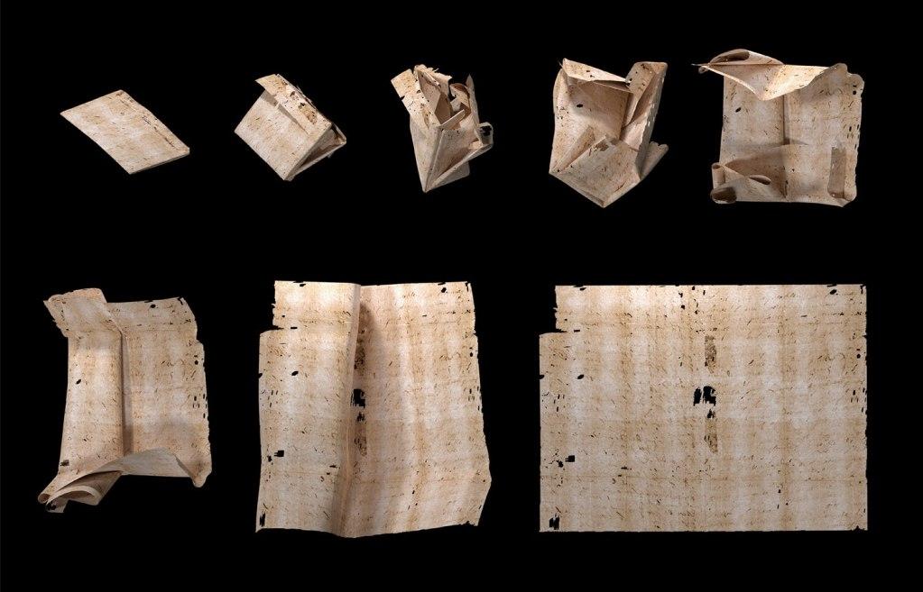 El 'despliegue virtual' permite leer cartas de hace 300 años sin necesidad de abrirlas